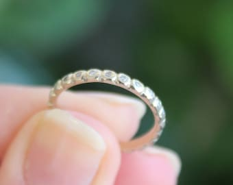 18k Yellow Gold Diamond Eternity Band Anniversary Wedding Band