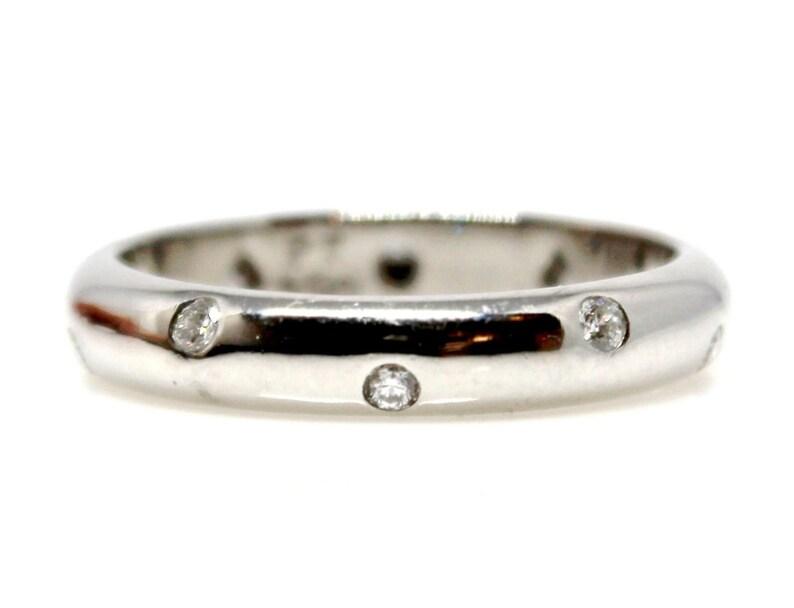 80516959249d4 Original Platinum Tiffany and Co Etoile Wedding Band with Diamonds
