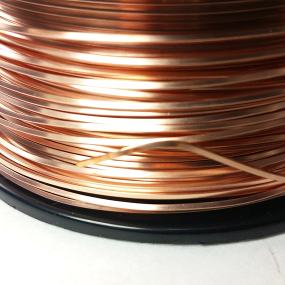 14 gauge square copper wire dead soft 5 Feet solid bare