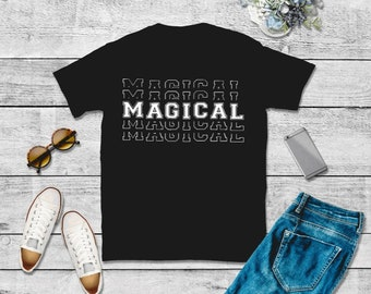 Black Girl Magic/Gifts for Her/T-shirts with positive quotes/T-shirts for Women/African American T-shirt
