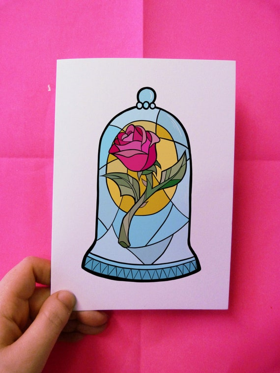 A5 High Quality Art Print Beauty And The Beast Disney Etsy