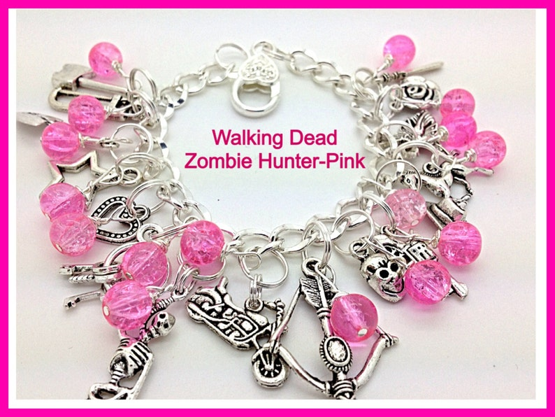 Walking Dead Jewelry Zombie Hunter Inspired Charm Bracelet image 0