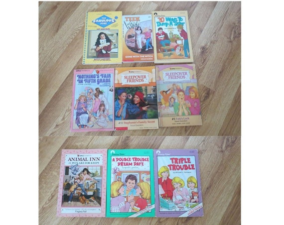 80's Paperback Book Lot / YA Paperbacks / 1980's Teen Books / Young Adult Fiction / Willowisp Press / Sleepover Friends / Fabulous Five