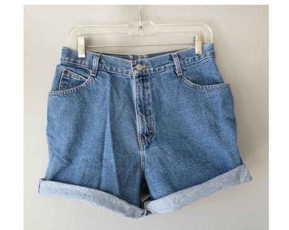 """90's Denim Shorts / Gitano Denim Shorts / 1990's Jean Shorts / High Waisted Shorts / Size Medium / 29"""" Waist / Mom Shorts"""