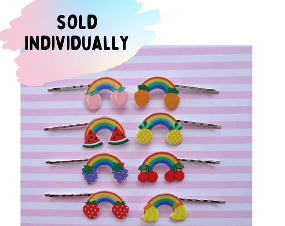 Fruit Hair Clips Rainbow Kawaii Barrettes