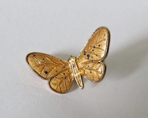 Tiny Butterfly Pin / Gold Plated Butterfly Lapel Pin / Butterfly Brooch / Gift for Her / 12k Plated Butterfly Pin