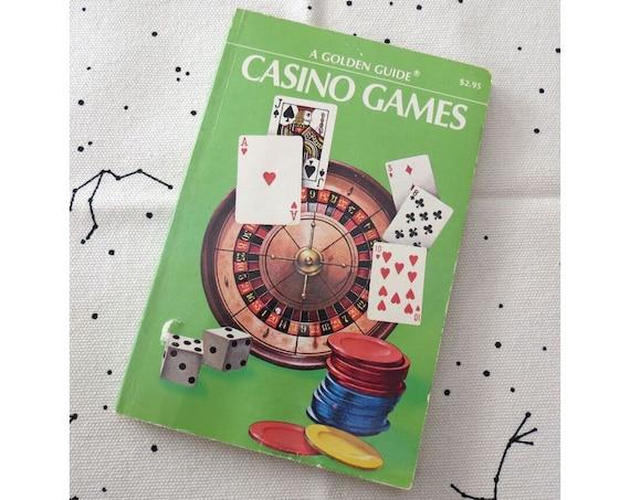 Casino Games Book / Golden Guide / Gambling Book / 1970's Paperback / Las Vegas Nevada / Blackjack Craps Keno Roulette / Golden Guide Series