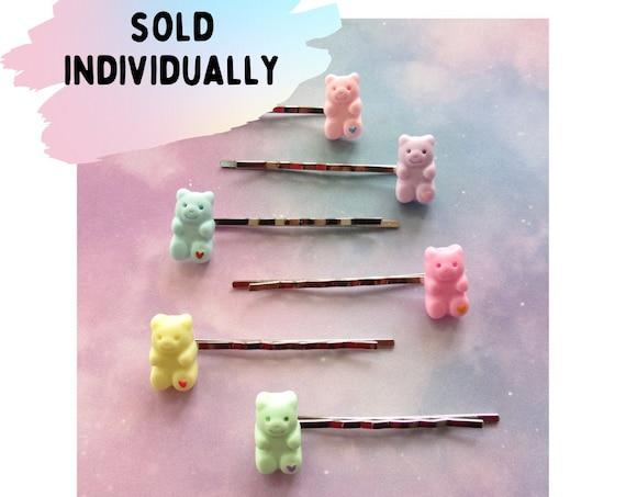 Gummy Bear Hair Clips Kawaii Candy Barrettes