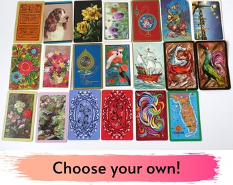Vintage Playing Cards Retro Junk Journal Card