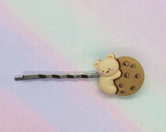 Bear Cookie Hair Clip Cute Kawaii Barrette