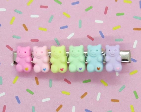 Gummy Bear Hair Clip Kawaii Candy Barrette