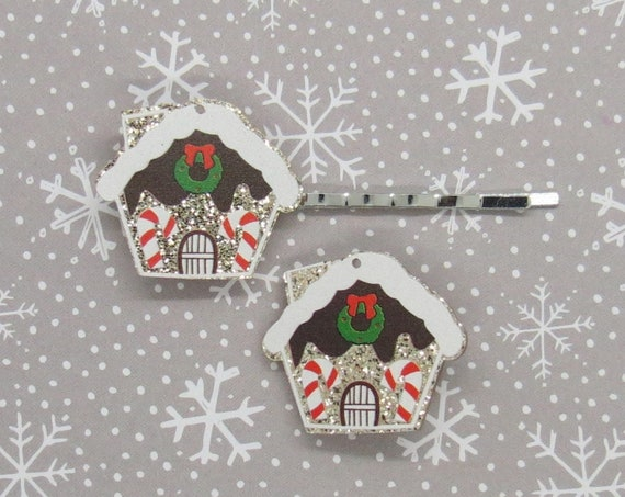 Gingerbread House Hair Clip Christmas Barrette