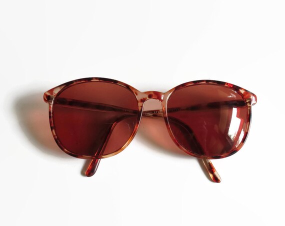 80's Sunglasses / 1980's Glasses / Brown Sunglasses / Tortoiseshell Sunglasses / 80's Sunnies / Unisex / 80's Eyeglasses Frames