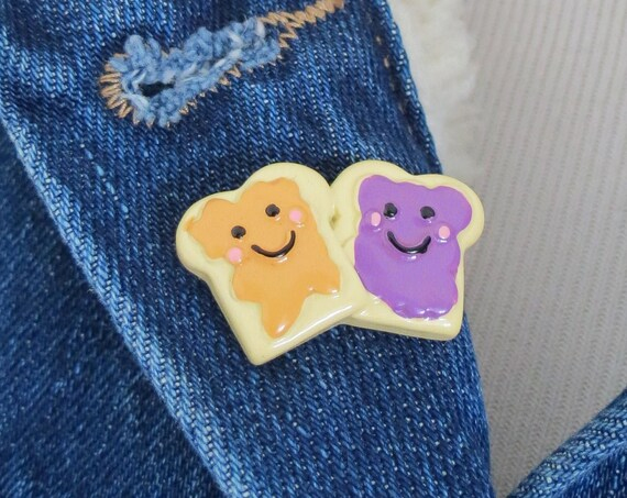 PB & J Pin Peanut Butter Jelly Sandwich Lapel Pin