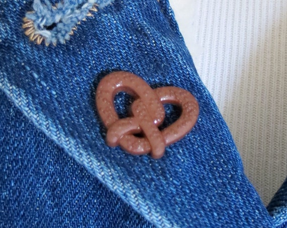 Soft Pretzel Pin Snack Junk Food Pin