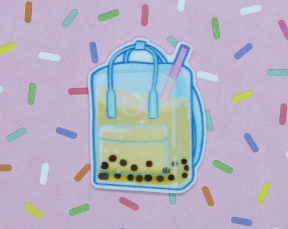 Boba Pin Kawaii Bubble Tea Backpack Brooch