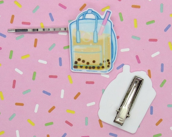 Boba Hair Clip Kawaii Bubble Tea Barrette