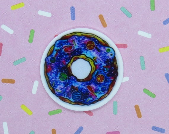 Kawaii Pin Galaxy Donut Cosmic Brooch