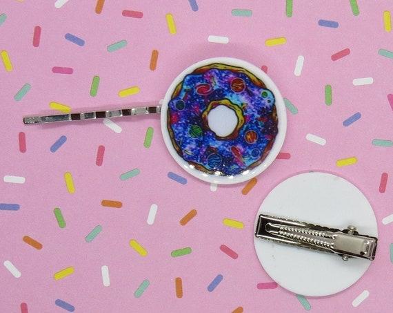 Kawaii Hair Clips Galaxy Donut Barrette