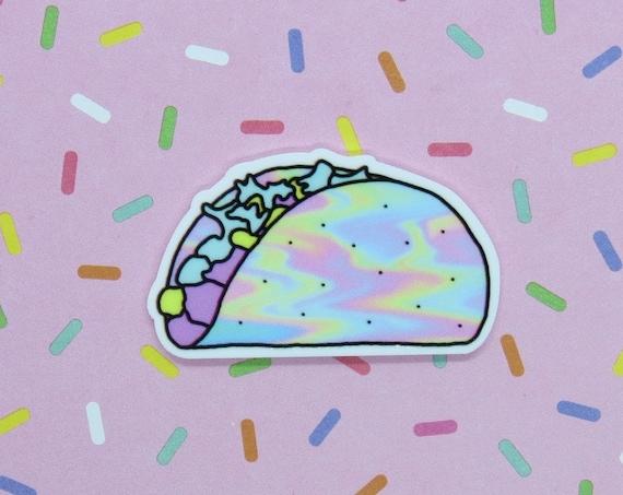 Kawaii Pin Taco Pastel Holographic Brooch Pins