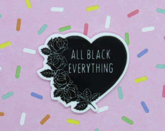 Goth Pin Black Gothic Heart Brooch
