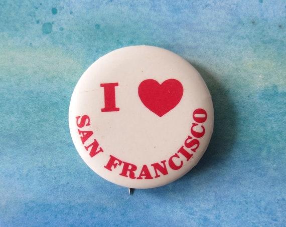 San Francisco Button Vintage SF Pin Pinback