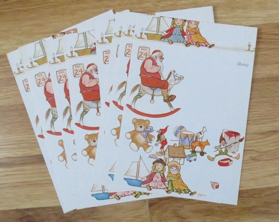 Vintage Christmas Stationary Just a Note Cards