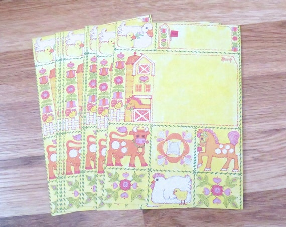 Retro Stationary Cards Just a Notes Paper Ephemera
