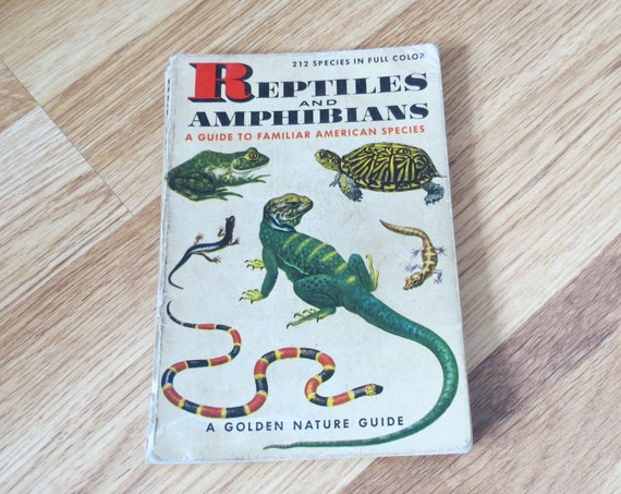 Reptiles and Amphibians Golden Guide / Herpetology Book / Nature Animal Handbook / Field Guide / Classification Book / Snakes Frogs Lizards