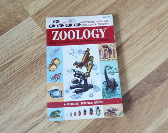 Zoology Golden Guide / Animal Kingdom Book / Nature Handbook / Animal Insect Bird Fish Guide  / Classification Field Guide / Science Book