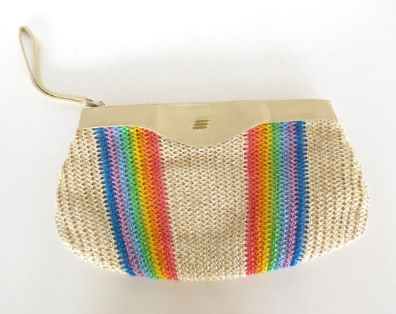 Rainbow Clutch Purse / Rainbow Handbag / Woven Purse / Hippie Bag / Summer Clutch Purse / Kawaii Purse / Rainbow Striped Bag / Harajuku
