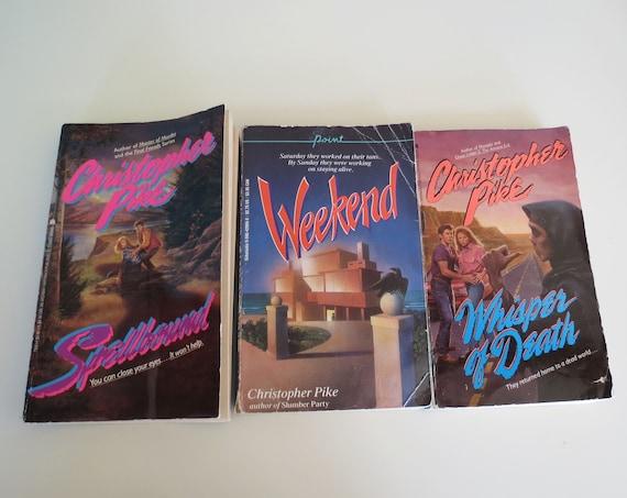Christopher Pike Lot / YA Horror Books / 80's Teen Horror Books / 1980's Teen Book Lot / 90's Paperback Lot / 90's YA Fiction