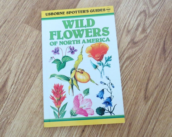 Wildflower Field Guide / Wildflowers of North America / Wildflowers Book / Nature Guide / Botany Book / Usborne Spotter's Guide