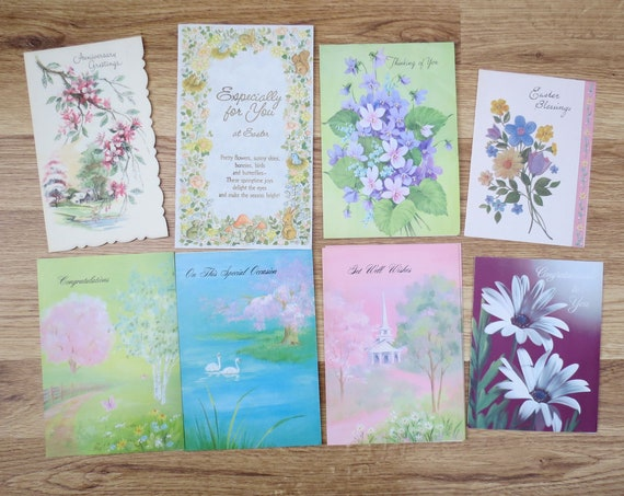 Vintage Greeting Cards Junk Journal Supplies