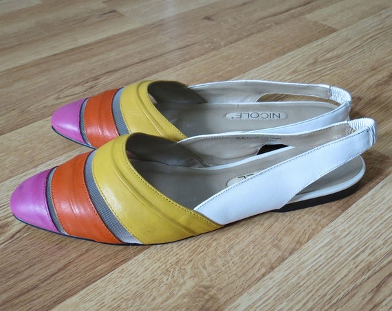 Rainbow Shoes Summer Flat Sandals
