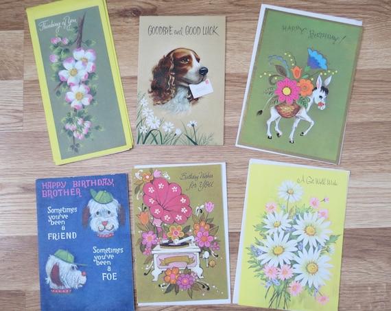 Vintage Greeting Cards Junk Journal Supply