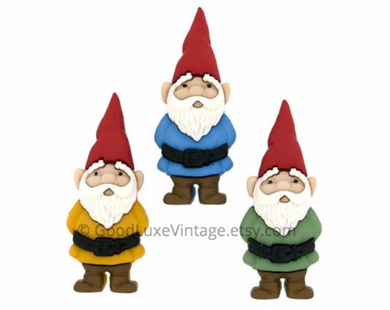 Gnome Pin Garden Button Amelie Jewelry Tie Tack Coat Purse Brooch