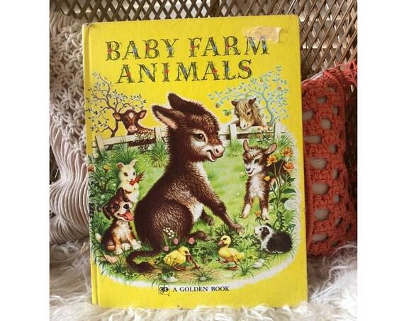 Vintage Golden Book Farm Animals