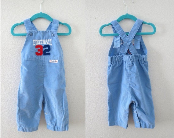 Baby Overalls Boys Corduroy Football Outfit