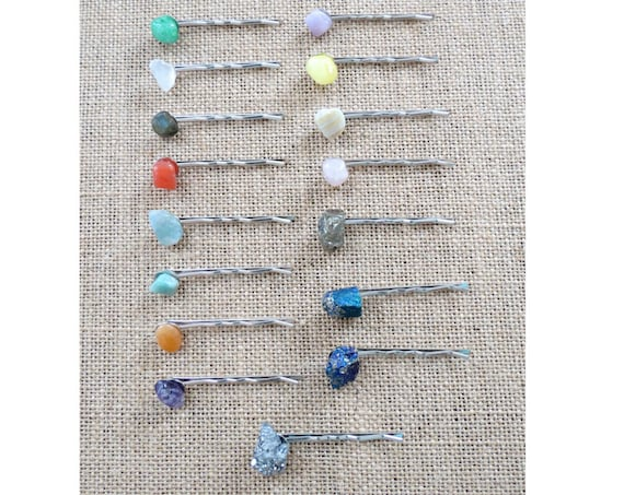 Crystal Hair Pins Gemstone Hair Clips