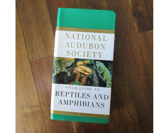 Reptiles and Amphibians Field Guide / Paperback Book / Snakes Frogs Turtles Lizards / Audubon Society Guide / Herpetology Identification