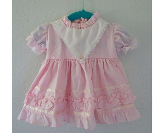 Vintage Baby Dress Pink Valentine's Day Outfit