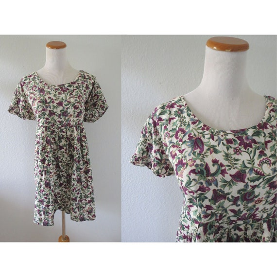 90s Romper Floral Summer Playsuit Rayon