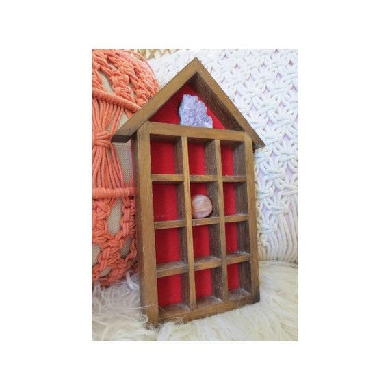 House Shadow Box Vintage Wood Display Shelf