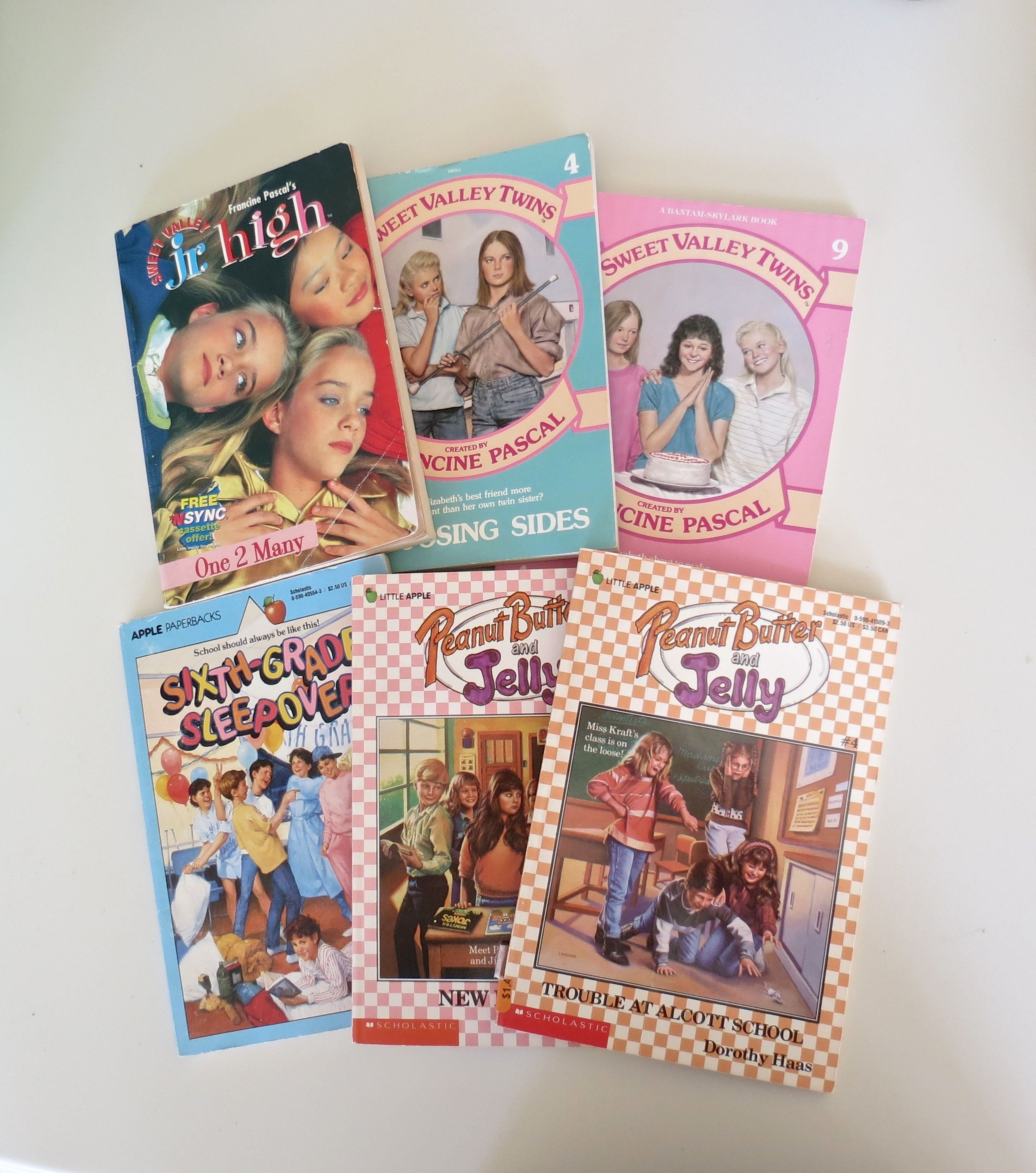 Teen Book Lot / 80's & 90's Paperbacks / YA Fiction / Sweet Valley Twins /  Peanut Butter and Jelly / Tween Books / Sweet Valley Jr  High