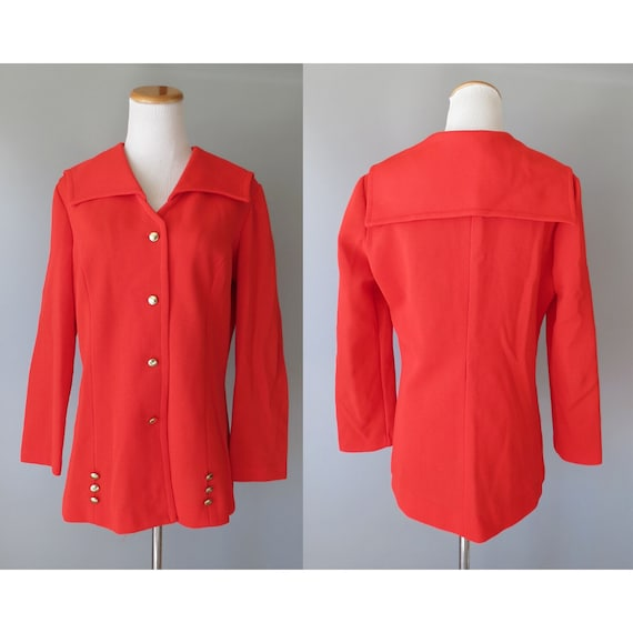 60s Mod Jacket Red Sailor Blazer