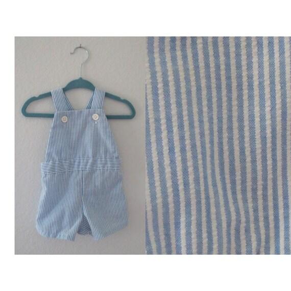 Vintage Baby Overalls Romper 12 Months