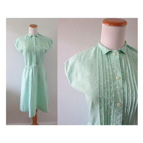 Mint Green Dress 60s Day Dress