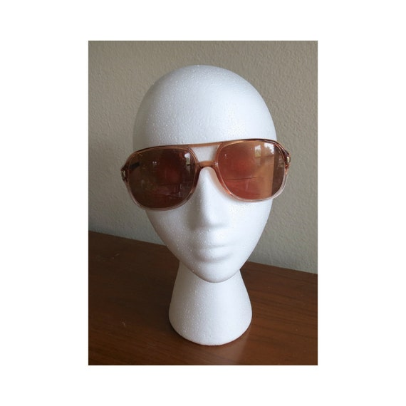 Aviator Sunglasses / Vintage 80's Sunglasses / Aviator Glasses / Brown Sunglasses / 1980's Eyewear / Unisex Sunglasses