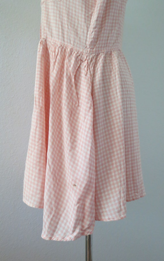 90s Romper Pink Gingham Rayon Playsuit - image 8